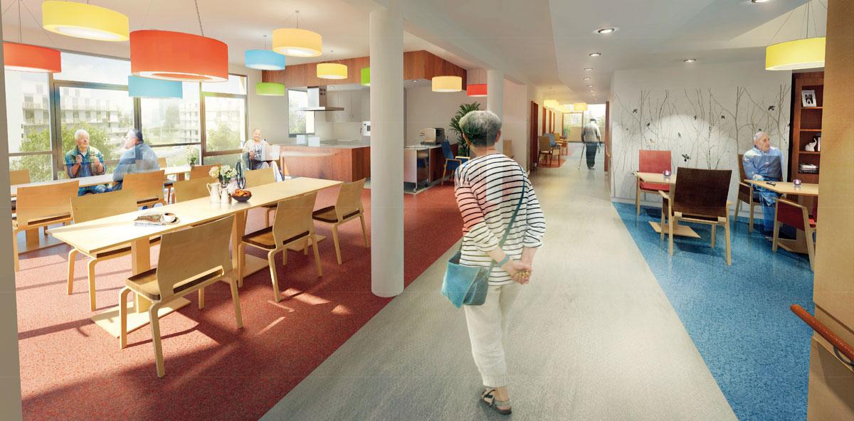 Individuelle Pflege und Begleitung aller Pflegestufen im modernen Sonnwendviertel.