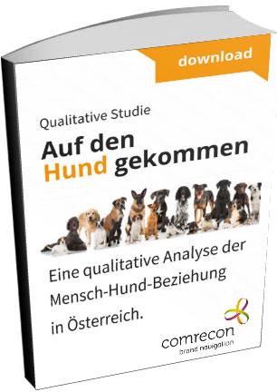 """Die komplette Hunde-Studie """"Auf den Hund gekommen"""" kann um € 99,- gekauft werden! Ihre Bestellung können Sie gleich unter entdecken@comrecon.com vornehmen."""