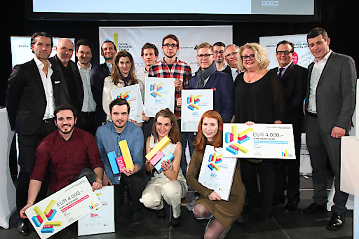"""Die Gewinner des Digital Business Trends-Award 2016 sind das Zeiterfassungssystem """"ZEI°"""" und die Kunstvermittlungs-App """"Eye to Ear""""."""