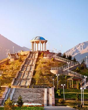 Almaty in Kasachstan - eine der Städte, die im Rahmen der Expo besucht werden können.