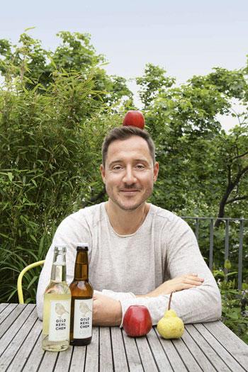 Goldkehlchen Chefzwitscherer Adam Ernst setzt sich für das Cider-Qualitätssiegel ein.
