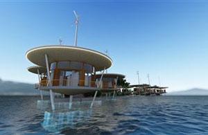 Das schwimmende Dorf Tahitis wird ein Testobjekt für Technologien, die viel größere schwimmende Inseln und Gesellschaften benötigen würden.