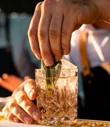 Ausgewählte Drinks am Liquid Market-Festival.